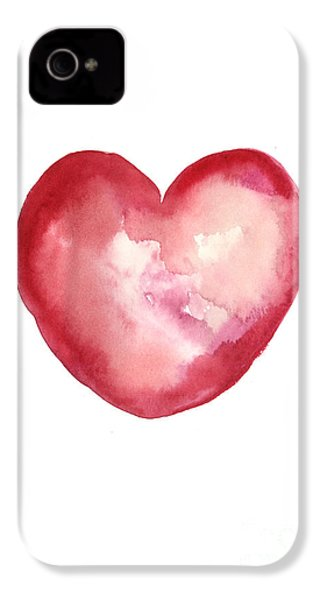 Red Heart Valentine's Day Gift IPhone 4 / 4s Case by Joanna Szmerdt