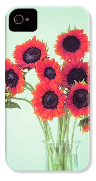 Red Sunflowers IPhone 4 Case
