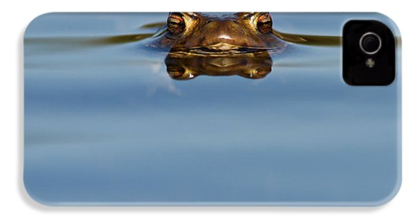 Reflections - Toad In A Lake IPhone 4 Case by Roeselien Raimond