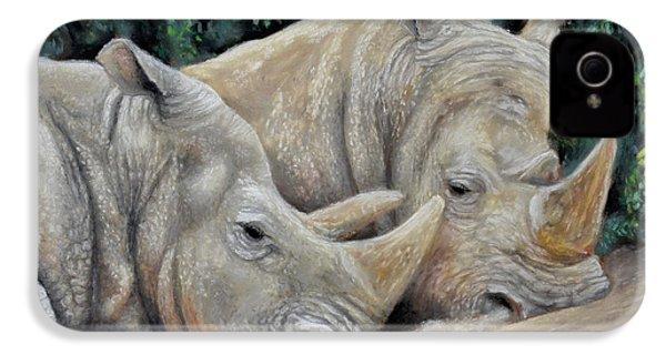 Rhinos IPhone 4 Case by Sam Davis Johnson