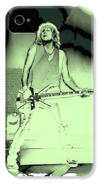 Rick Savage - Def Leppard IPhone 4 / 4s Case by David Patterson