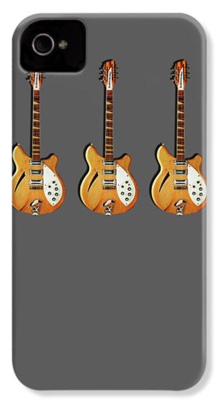 Rickenbacker 360 12 1964 IPhone 4 Case by Mark Rogan