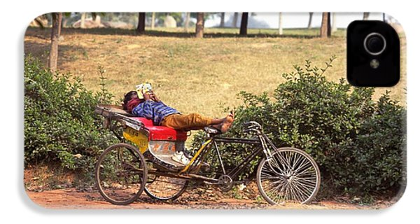 Rickshaw Rider Relaxing IPhone 4 Case