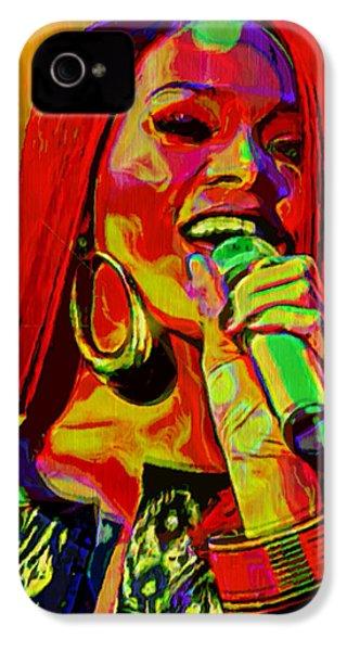 Rihanna 2 IPhone 4 Case by  Fli Art