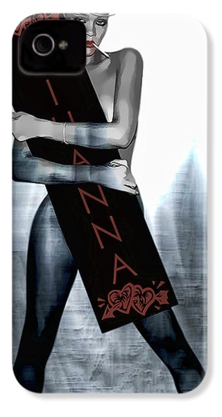 Rihanna Love Card By Gbs IPhone 4 / 4s Case by Anibal Diaz