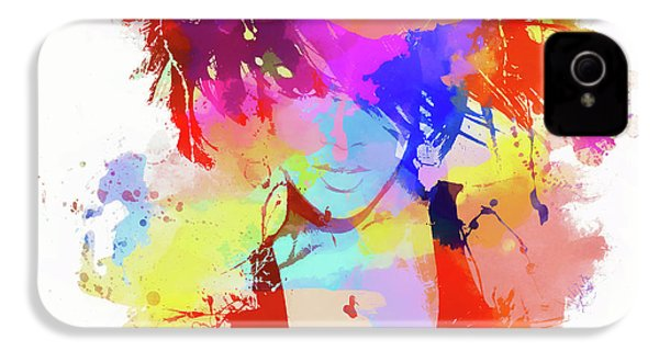 Rihanna Paint Splatter IPhone 4 Case by Dan Sproul