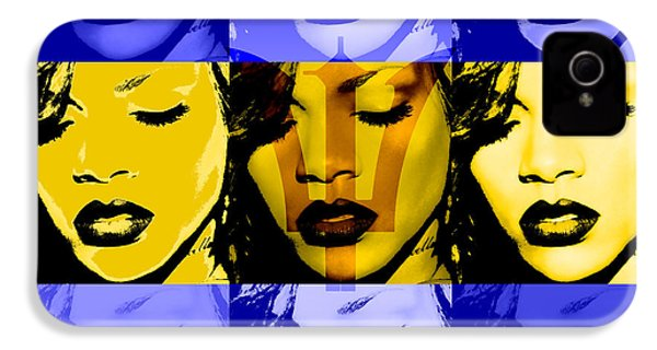 Rihanna Warhol Barbados By Gbs IPhone 4 Case by Anibal Diaz