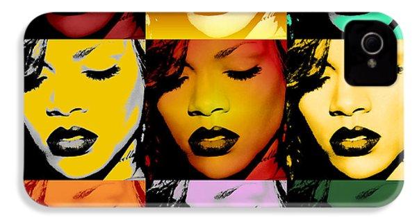 Rihanna Warhol By Gbs IPhone 4 Case by Anibal Diaz