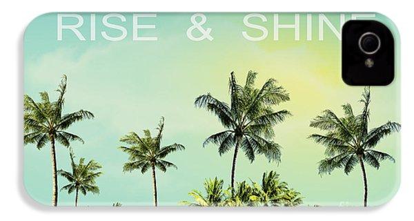 Rise And  Shine IPhone 4 / 4s Case by Mark Ashkenazi
