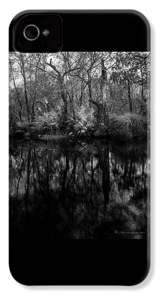 River Bank Palmetto IPhone 4 Case by Marvin Spates