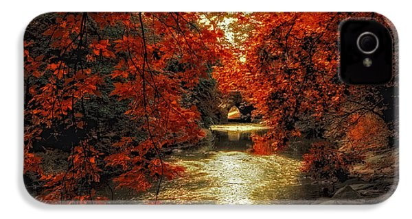 Riverbank Red IPhone 4 Case by Jessica Jenney