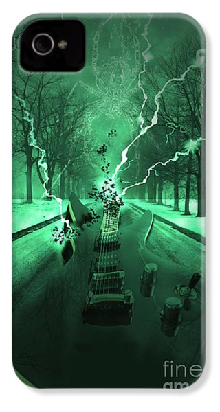 Road Trip Effects  IPhone 4 Case by Cathy  Beharriell