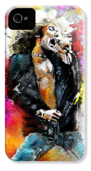 Robert Plant 03 IPhone 4 Case by Miki De Goodaboom