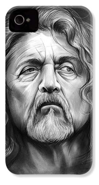Robert Plant IPhone 4 Case by Greg Joens
