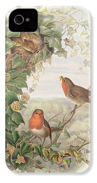 Robin IPhone 4 Case by John Gould