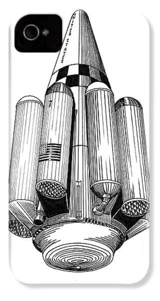 Rombus Heavey Lift Reusable Rocket IPhone 4 / 4s Case by Jack Pumphrey