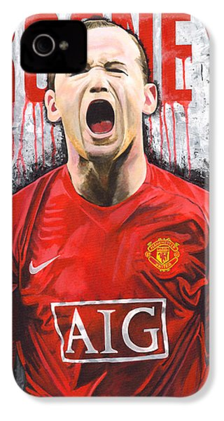 Rooney IPhone 4 / 4s Case by Jeff Gomez