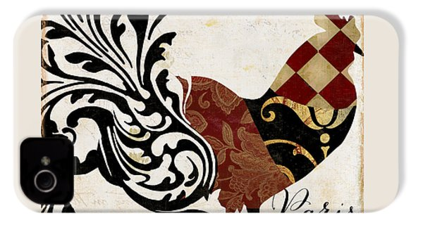 Roosters Of Paris II IPhone 4 Case