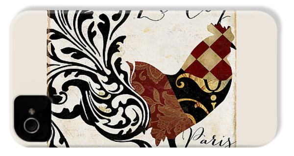 Roosters Of Paris II IPhone 4 Case by Mindy Sommers