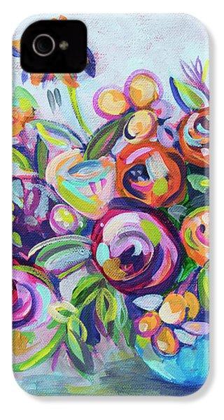 Roses And Kumquats IPhone 4 Case by Kristin Whitney