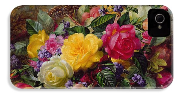 Roses By A Pond On A Grassy Bank  IPhone 4 Case by Albert Williams