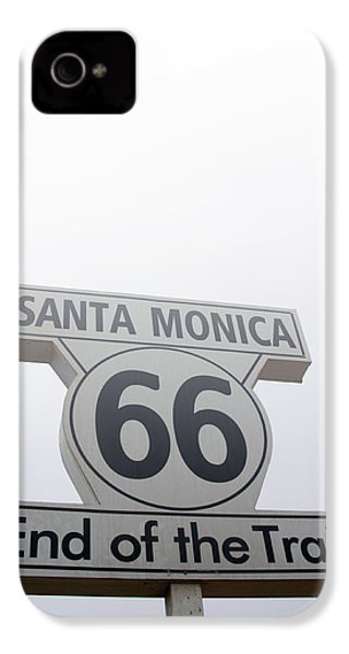 Route 66 Santa Monica- By Linda Woods IPhone 4 Case