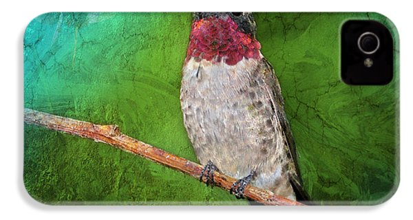 Ruby Throated Hummingbird IPhone 4 Case by Betty LaRue