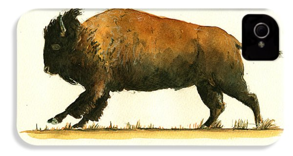 Running American Buffalo IPhone 4 Case by Juan  Bosco