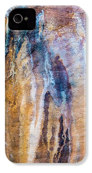 IPhone 4 Case featuring the photograph Runoff Abstract, Bhimbetka, 2016 by Hitendra SINKAR