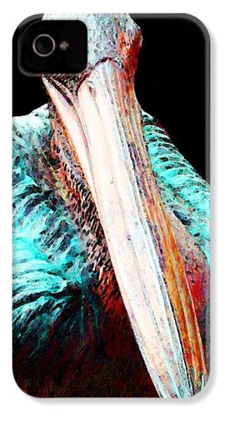 Rusty - Pelican Art Painting By Sharon Cummings IPhone 4 Case by Sharon Cummings