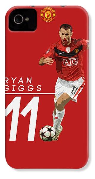 Ryan Giggs IPhone 4 Case by Semih Yurdabak
