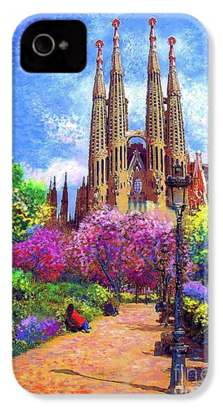 Sagrada Familia And Park,barcelona IPhone 4 Case by Jane Small