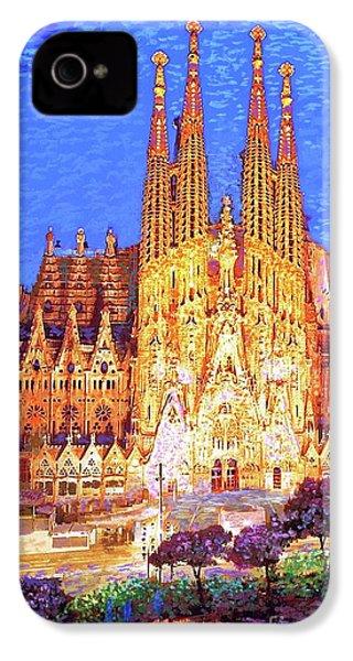 Sagrada Familia At Night IPhone 4 Case by Jane Small