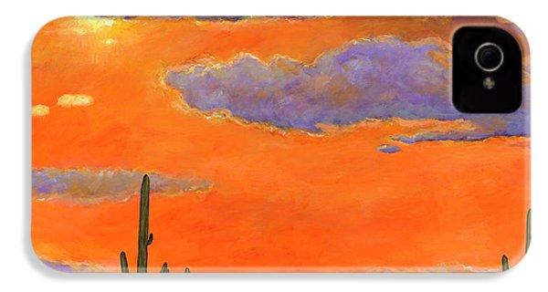 Saguaro Sunset IPhone 4 Case by Johnathan Harris