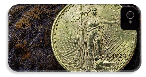 Saint Gaudens Gold IPhone 4 Case by JC Findley