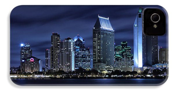 San Diego Skyline At Night IPhone 4 Case by Larry Marshall