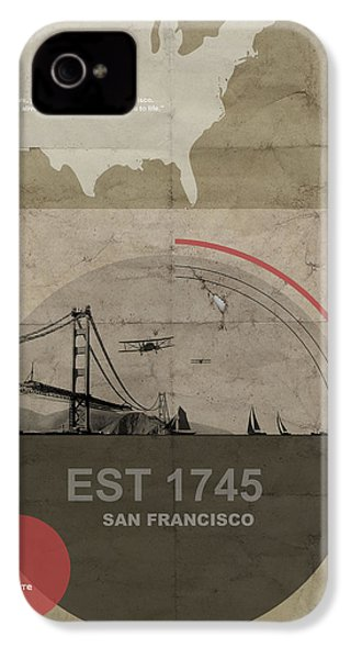 San Fransisco IPhone 4 Case by Naxart Studio