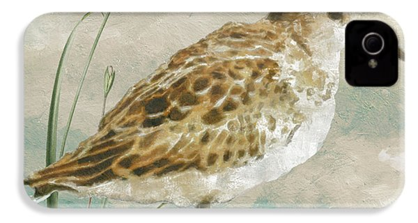 Sandpiper I IPhone 4 / 4s Case by Mindy Sommers