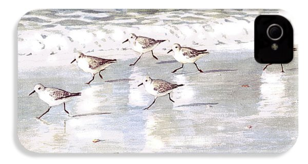 Sandpipers On Siesta Key IPhone 4 Case by Shawn McLoughlin