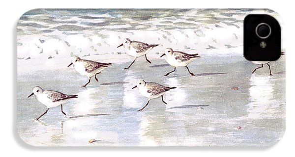 Sandpipers On Siesta Key IPhone 4 / 4s Case by Shawn McLoughlin