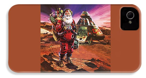 Santa Claus On Mars IPhone 4 Case by English School