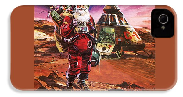 Santa Claus On Mars IPhone 4 Case by English School