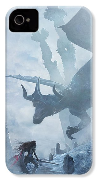 Santa Georgina Vs The Dragon IPhone 4 Case by Guillem H Pongiluppi
