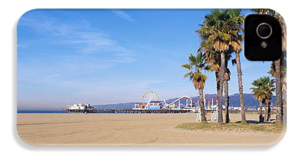 Santa Monica Beach Ca IPhone 4 Case by Panoramic Images