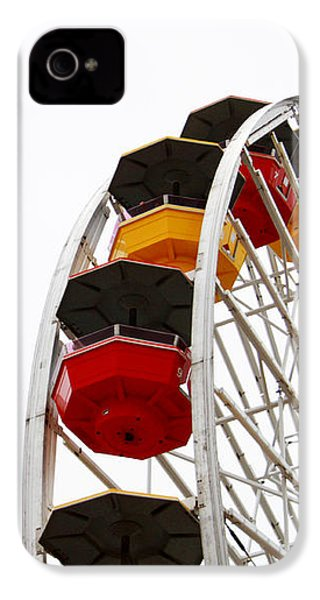 Santa Monica Pier Ferris Wheel- By Linda Woods IPhone 4 / 4s Case by Linda Woods