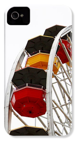 Santa Monica Pier Ferris Wheel- By Linda Woods IPhone 4 Case by Linda Woods
