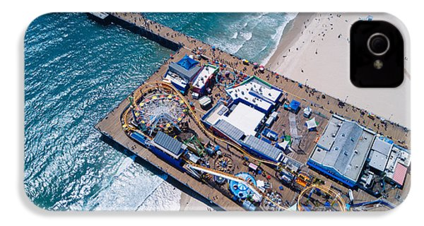 Santa Monica Pier From Above Side IPhone 4 Case
