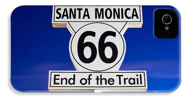 Santa Monica Route 66 Sign IPhone 4 / 4s Case by Paul Velgos