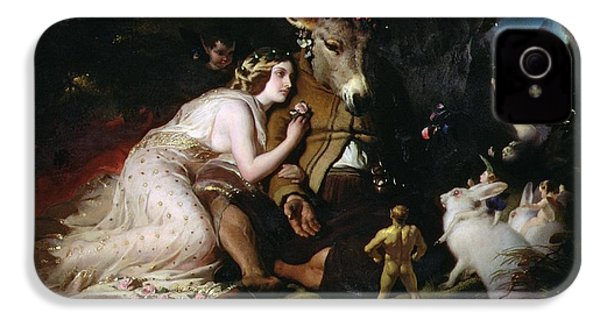 Scene From A Midsummer Night's Dream IPhone 4 Case by Sir Edwin Landseer