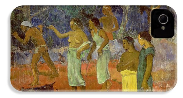 Scene From Tahitian Life IPhone 4 / 4s Case by Paul Gauguin